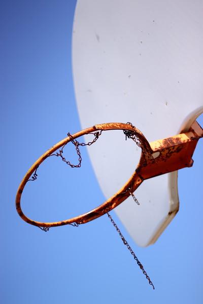 Sad Basketball Hoop