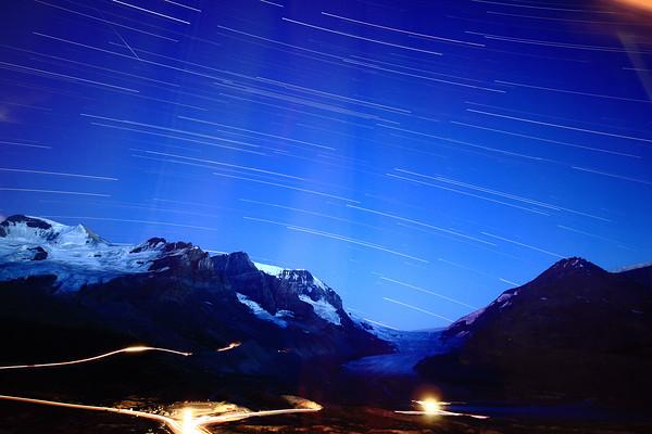 Athabasca Glacier Star Trail