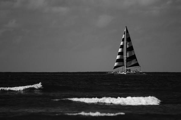 Sailboat by Waikiki