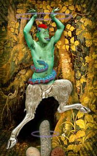 """Cosmic Tribe Tarot, """"The Devil"""""""