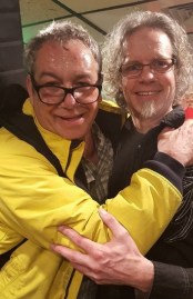 Steve Kent with Mike Watt of the Minutemen
