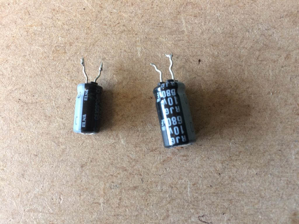 2 x faulty capacitors