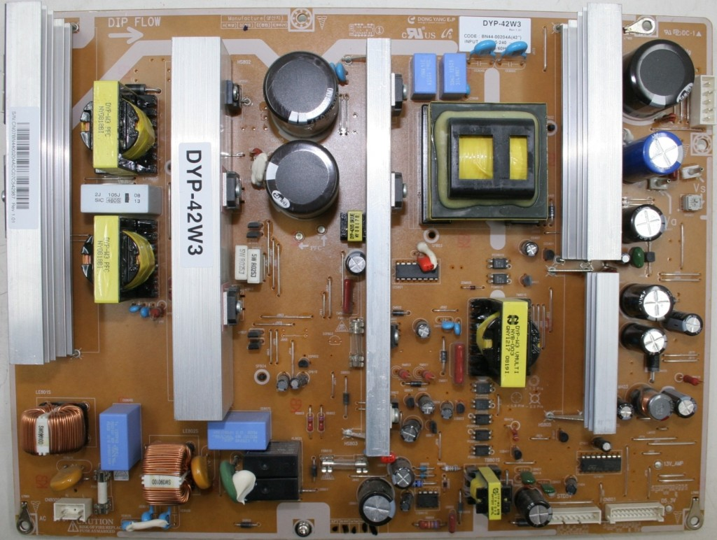 A Samsung power supply panel