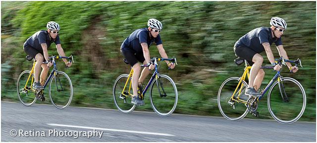 Triathlon Cyclist Training Photo Montage