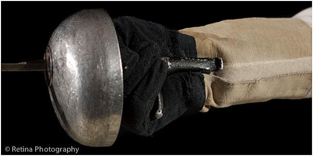 Close Up Of Fencing Foil