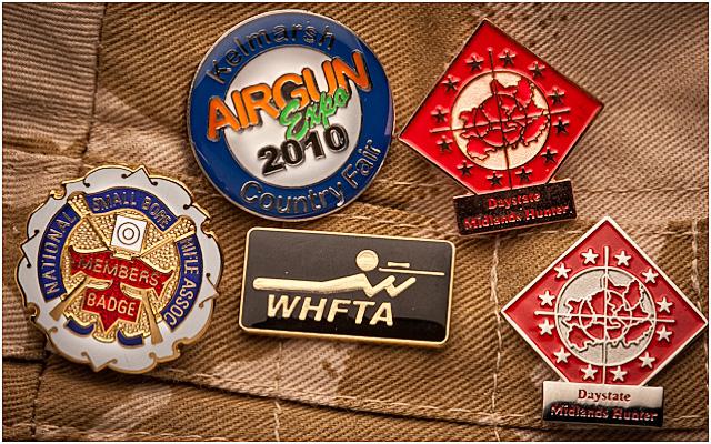 Hunter Field Target Metal Badges