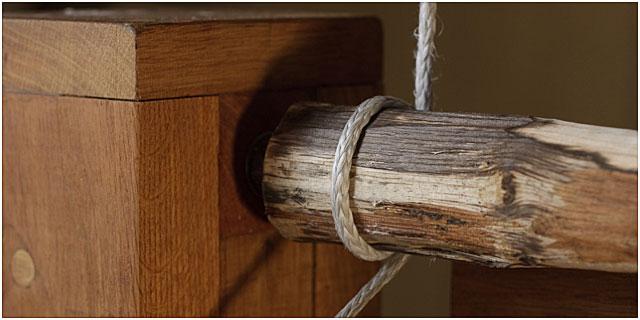 Home Made Pole Lathe Close Up