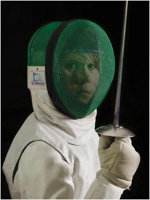 Portrait Of Young Male Fencer