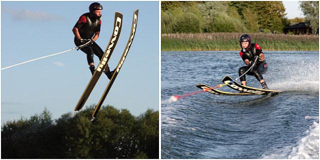 Waterskier Jumping