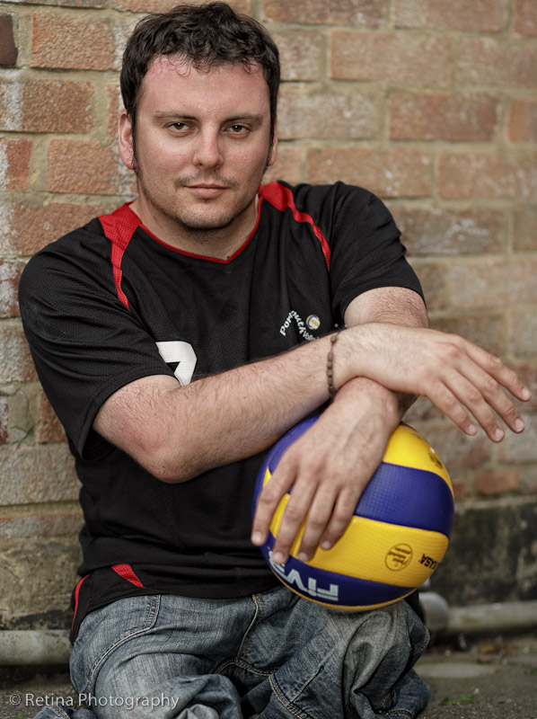 Weekend Passions Editorial Sitting Volleyball Player Portrait