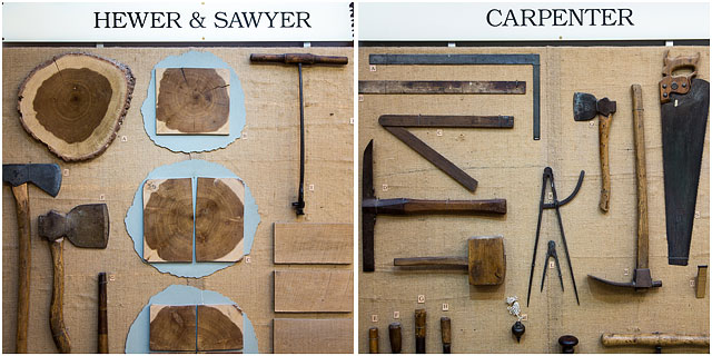 Carpenter Hewer And Sawyer Craftmans Tools