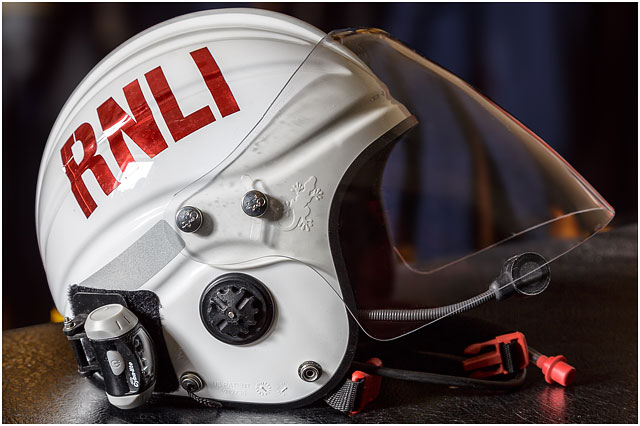 White RNLI Safety Helmet With Radio Communications