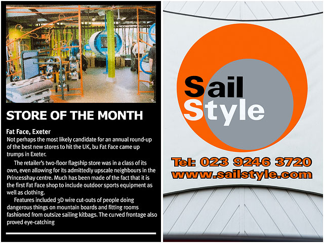 Fat Face Exeter High Street Store Of The Month With Sail Style Workshop Logo