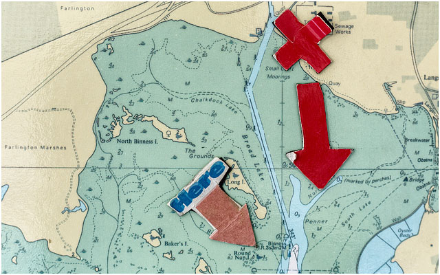 Nautical Chart of Langstone Channel Area Close to Portsmouth RNLI Station