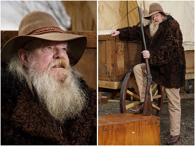 Man Dressed As American Wild West Trapper