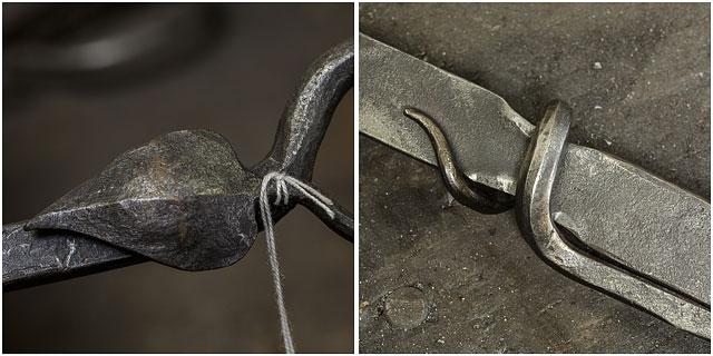 Close Up Detail Of Blacksmiths Metalwork Art