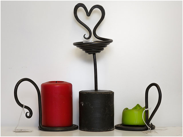 Candle Holders Created By Little Duck Forge Blacksmith