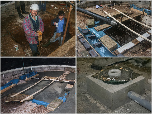 Replacing the foundations ready for the new 24inch Telescope [Photo's supplied by Graham]