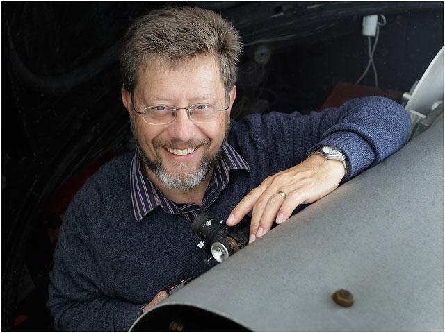 Portrait Hampshire Astronomical Group Male Astronomer Smiling Glasses Beard 12 inch Twelve