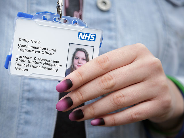 NHS Identity Card Painted Fingernails