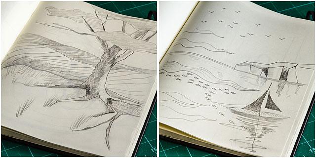 Moleskine Sketch Book Pencil Drawings