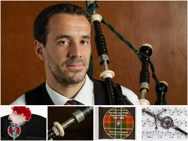 Weekend Passions Editorial Montage Bagpipe Player