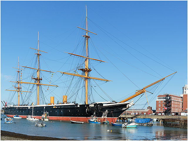 HMS Warrior Southsea Hard Slipway Portsmouth Dockyard