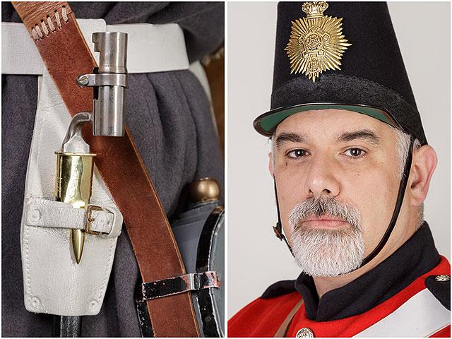 Fort Cumberland Guard Uniform Scabbard Headshot Portrait