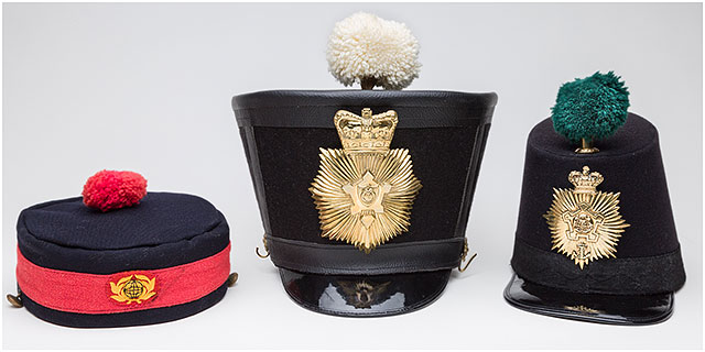 1860 Fort Cumberland Guard Forage and Bell Topped Shako Hats
