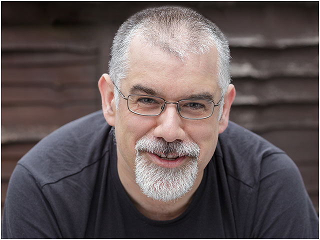 Headshot Portrait Male Man Glasses Dark Top White Beard