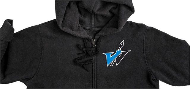 portsmouth warriors cheerleaders hooded sweatshirt