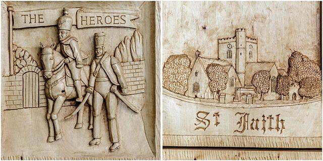 havant borough council chamber woodcarving detail