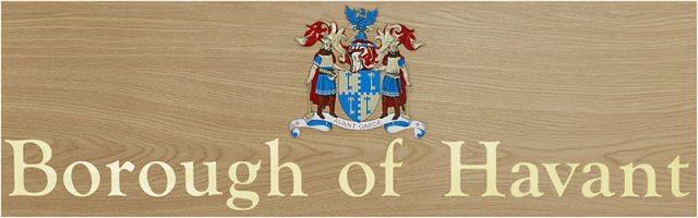 Havant borough council offices plaque