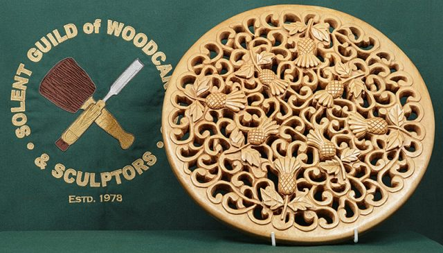 carving by a member of the solent guild of woodcarvers and sculptors