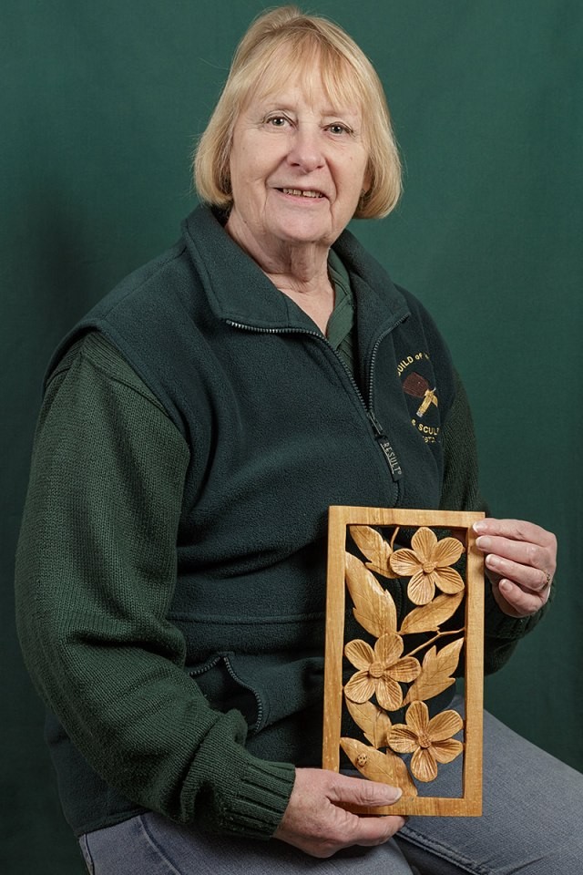 portrait of Jean Cripps a member of the solent guild of woodcarvers and sculptors