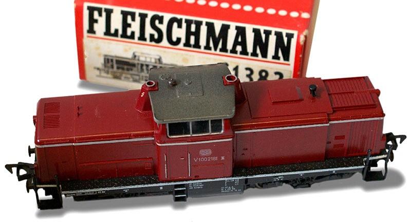 Early German HO scale model trains in original packaging