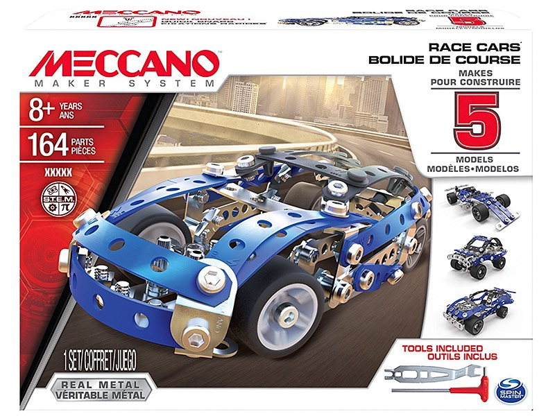 Modern Meccano Maker System race car model
