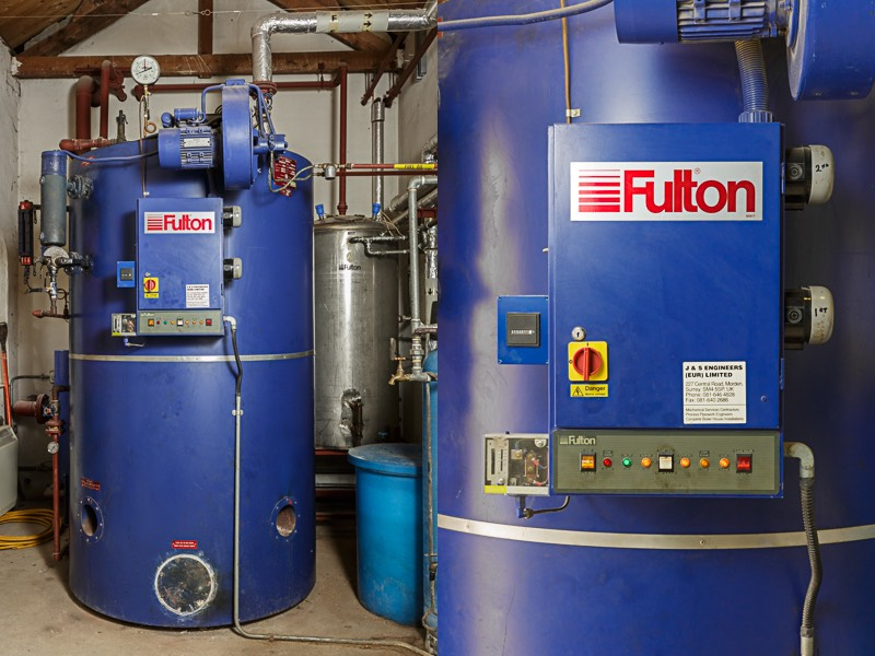 Modern fulton boiler for bursledon brickworks museum