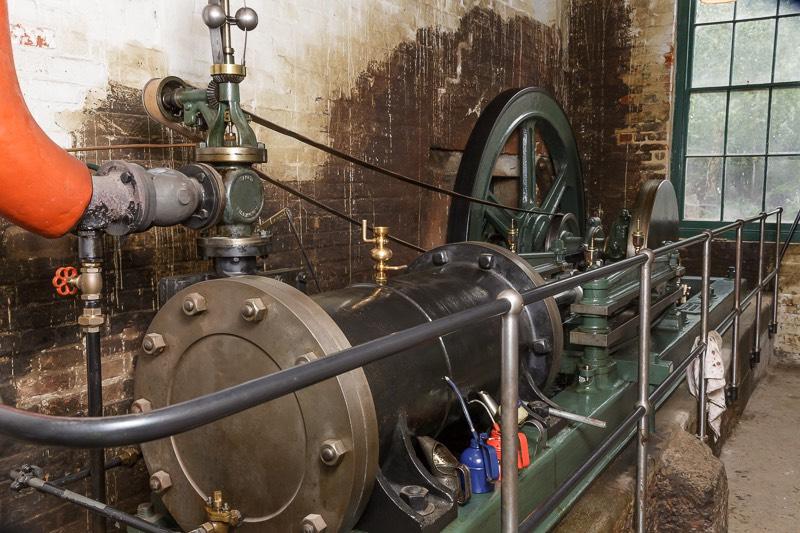 Number 1 steam engine at Bursledon Brickworks Museum.