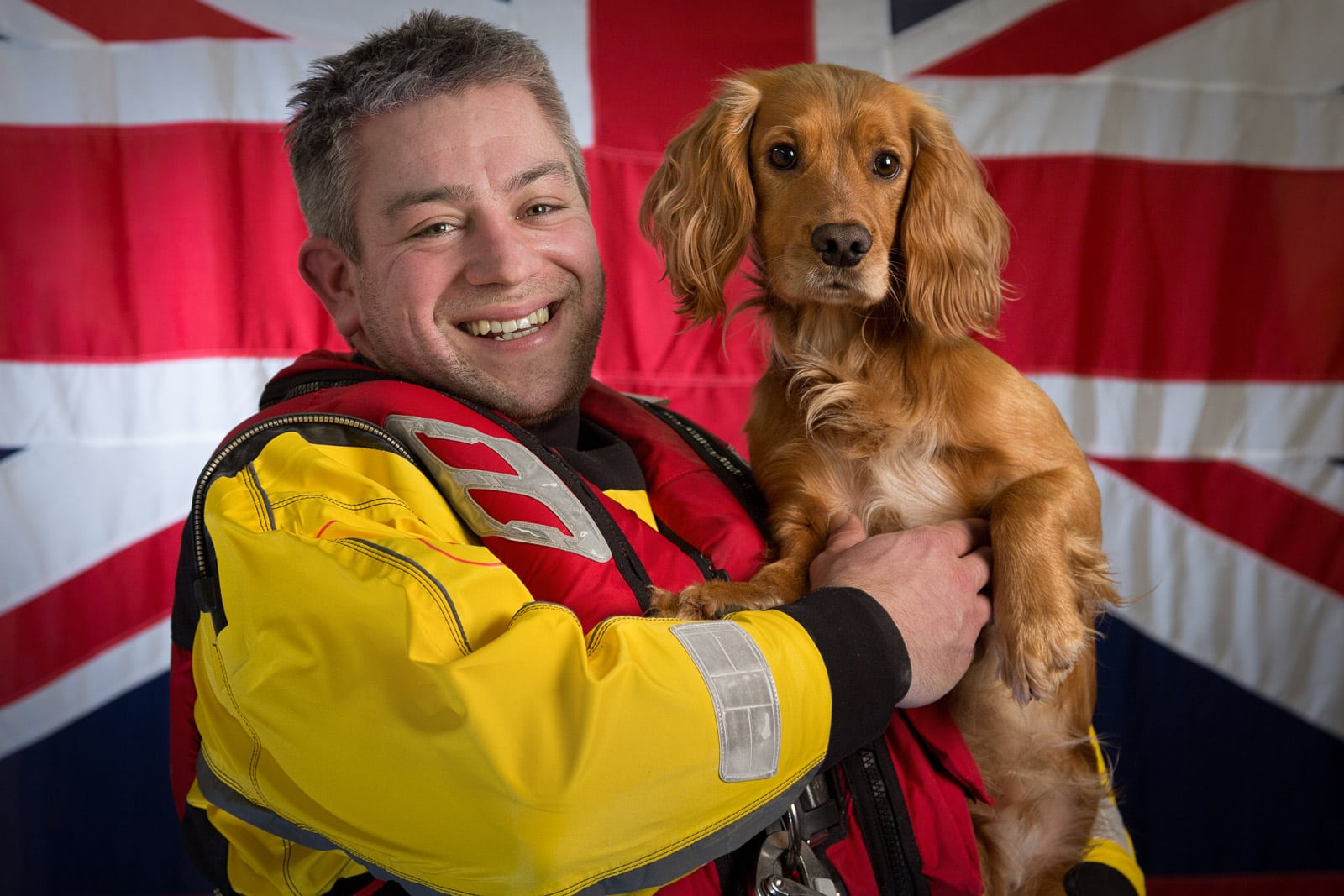 informal portrait of a male member of the Portsmouth RNLI