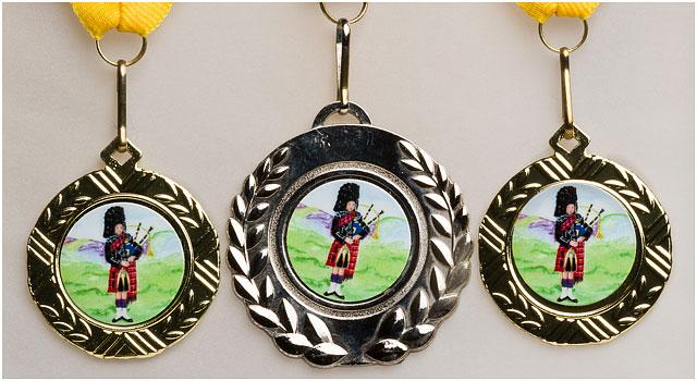 Scottish Bagpiping Award Medals