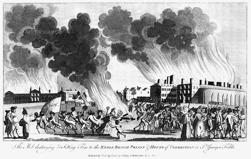 Much of King's Bench suffered in a massive fire in 1780, short years before Robert was imprisoned there. There were massive protests and much damage at the time.