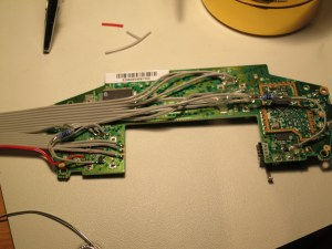 Soldered cable to Xbox One Controller lower board