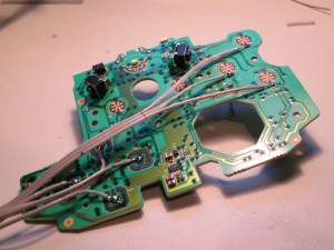 Soldered ribbon cable to XBox One Controller upper circuit board