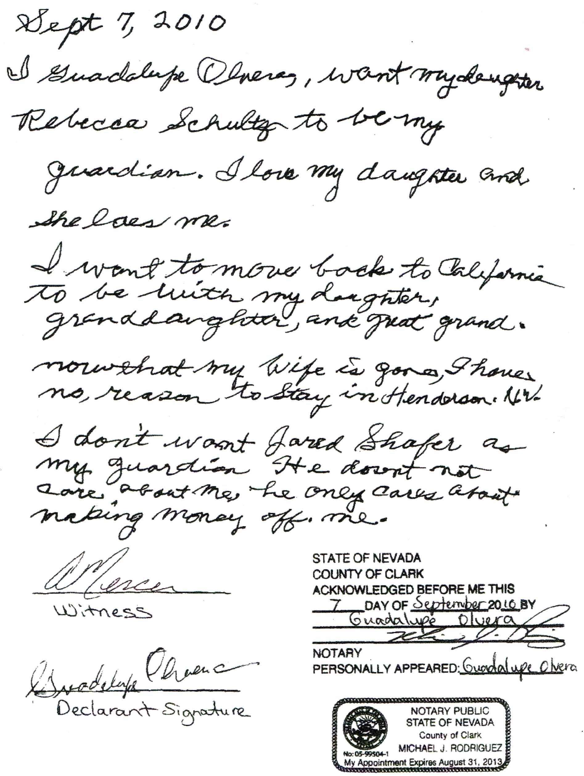 Writing Affidavit For Child Custody