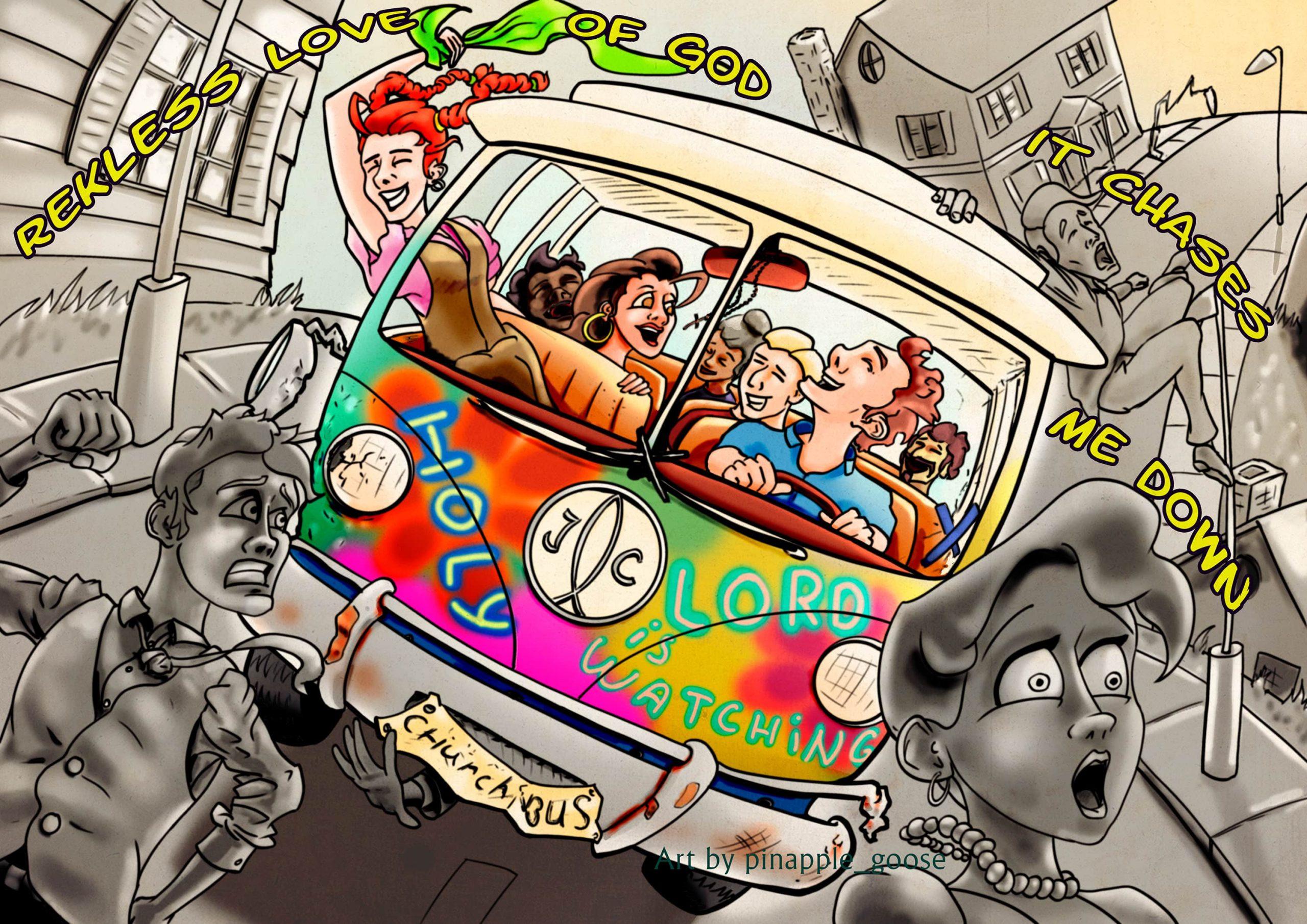 Church bus cartoon