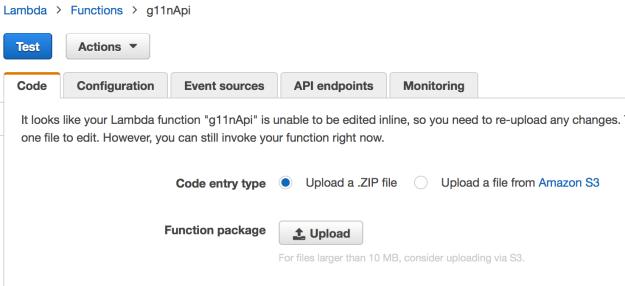 Upload Lambda Code