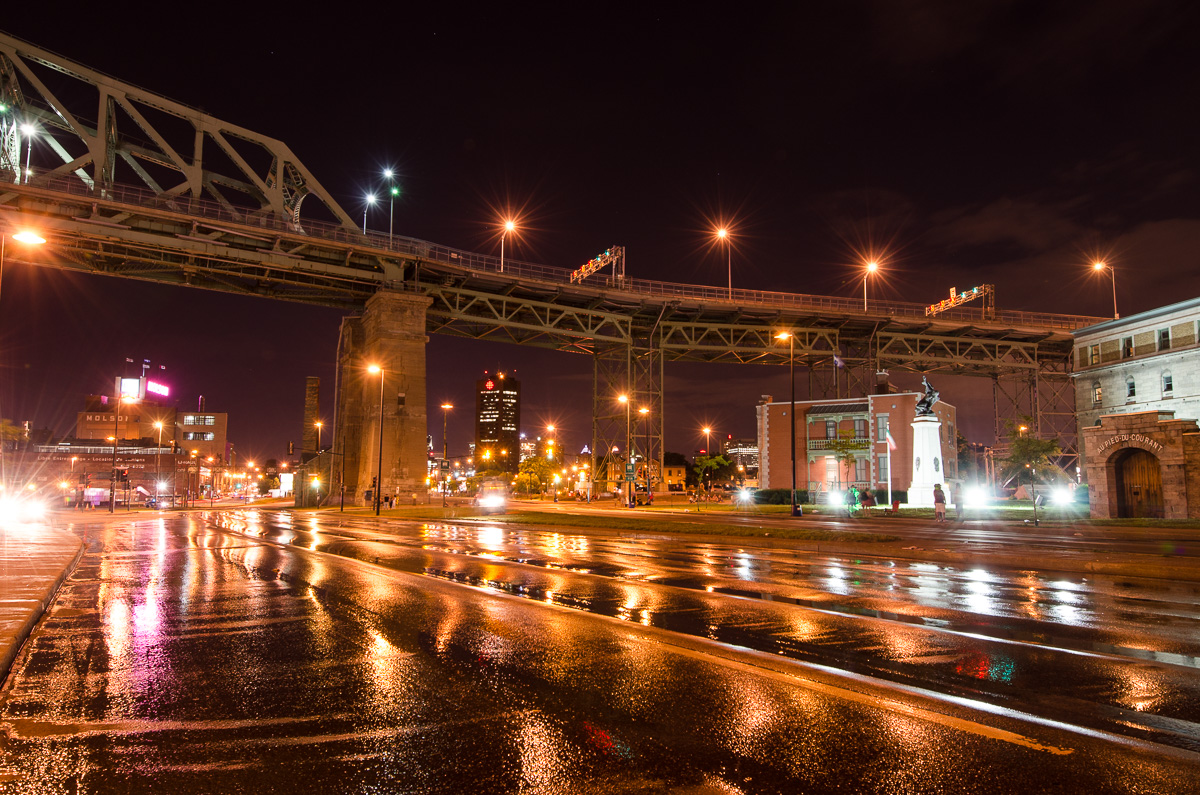 montreal nuit pont ville