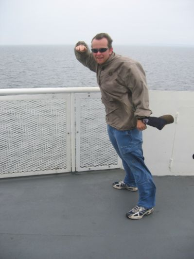 The wind on the ferry can support you!