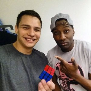 Magician Steven Brundage performs some Rubik's Cube Magic for Destorm Powers